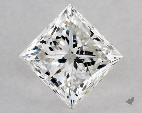 1.02 Carat F-SI1 Ideal Cut Princess Diamond