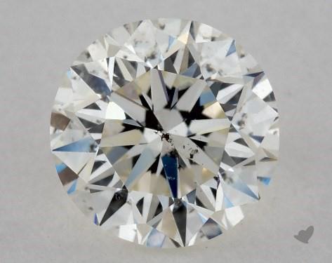 0.71 Carat K-SI2 Very Good Cut Round Diamond