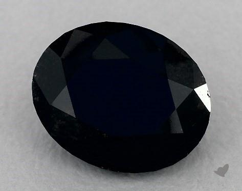 5.22 Carat FANCY  Black Oval Cut Diamond