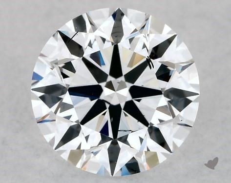 Lab-Created 1.01 Carat E-SI1 Ideal Cut Round Diamond