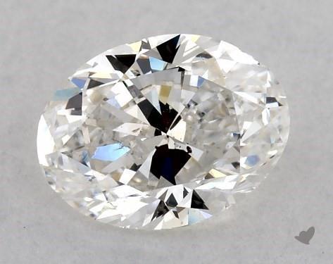 1.00 Carat H-SI1 Oval Cut Diamond