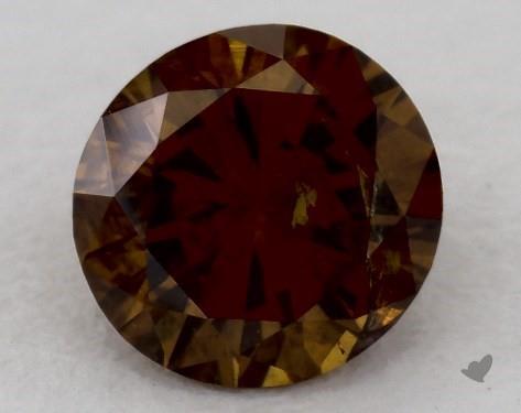 0.65 Carat  brown Round Cut Diamond