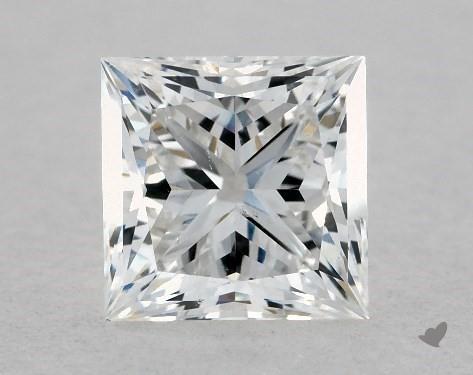 1.00 Carat E-SI1 Ideal Cut Princess Diamond