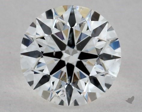 0.72 Carat F-SI1 True Hearts<sup>TM</sup> Ideal Diamond