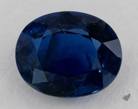 <b>0.80</b> carat Oval Natural Blue Sapphire