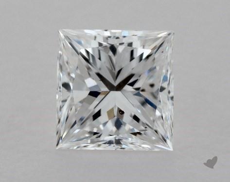 1.00 Carat D-SI1 Ideal Cut Princess Diamond