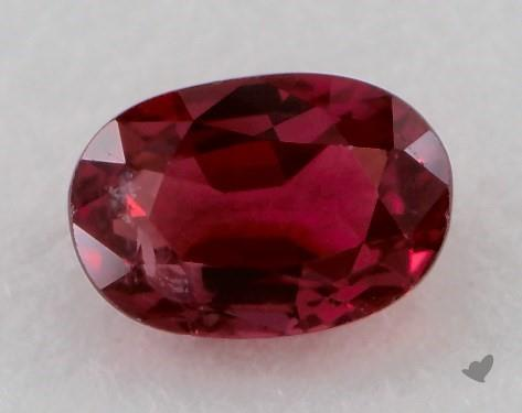 0.74 carat Oval Natural Ruby