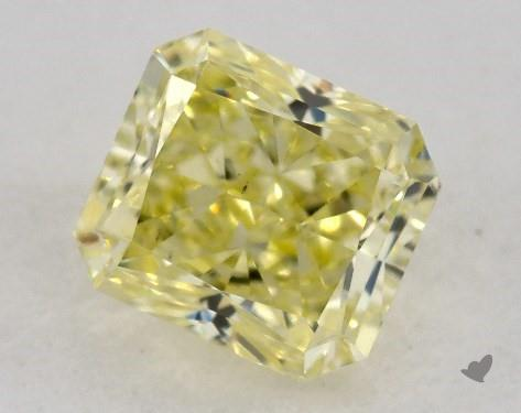 0.63 Carat  yellow-VS2 Radiant Cut Diamond