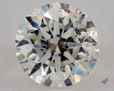 0.70 Carat J-I1 Very Good Cut Round Diamond