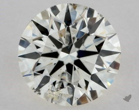 0.71 Carat K-I1 Excellent Cut Round Diamond