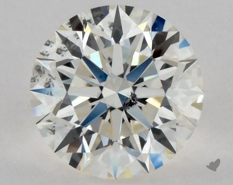 0.72 Carat J-I1 Excellent Cut Round Diamond