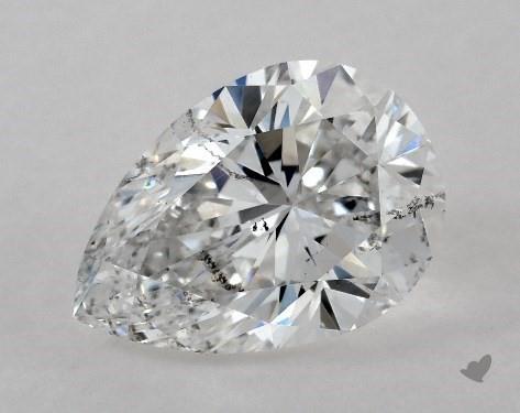 1.07 Carat E-SI2 Pear Shape Diamond