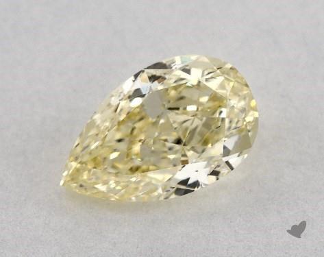 0.80 Carat FANCY LIGHT  YELLOW-VS2 Pear Shape Diamond