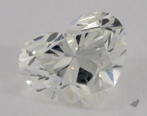 0.81 Carat I-VVS2 Heart Shape Diamond