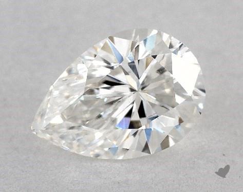 0.60 Carat E-SI1 Pear Shape Diamond