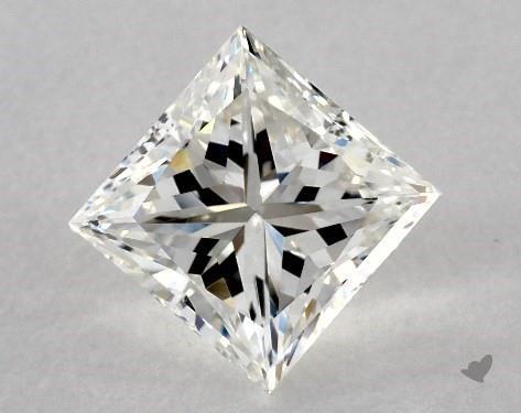 5.02 Carat H-VS2 Good Cut Princess Diamond