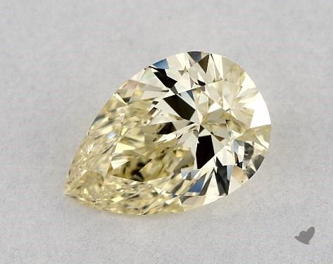 1.02 Carat FANCY LIGHT  YELLOW-I1 Pear Shape Diamond
