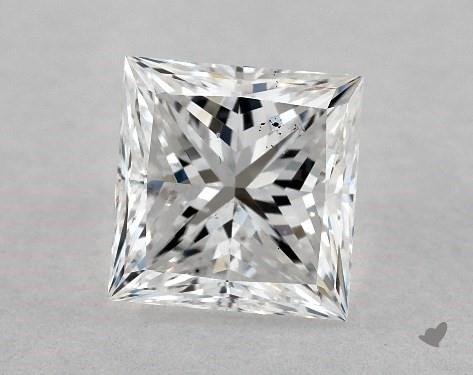 1.00 Carat E-SI1 Ideal Cut Princess Diamond