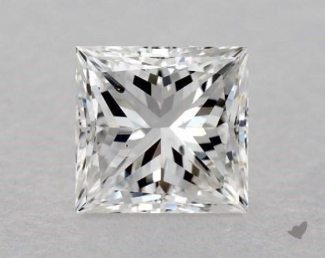 1.02 Carat F-SI1 Ideal Cut Princess Diamond