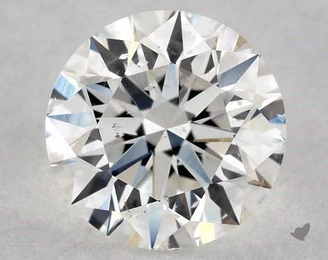 0.72 Carat H-SI1 Excellent Cut Round Diamond