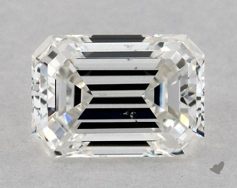 0.73 Carat H-SI1 Emerald Cut Diamond