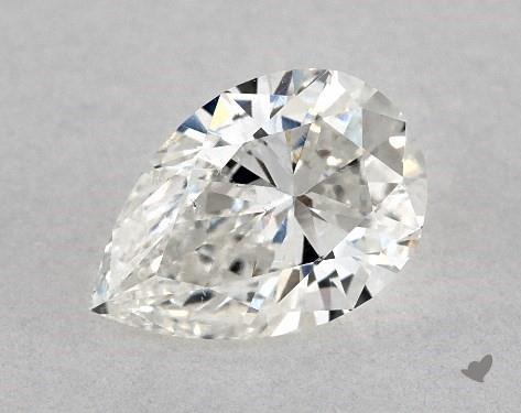0.67 Carat G-SI1 Pear Shape Diamond