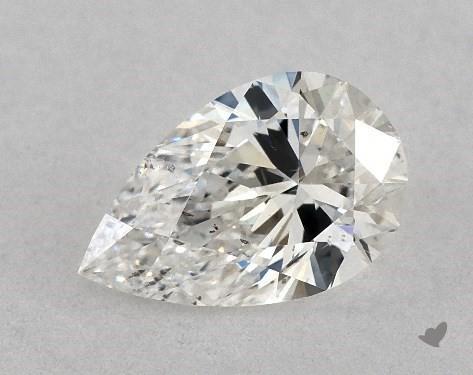 0.73 Carat G-SI2 Pear Shape Diamond