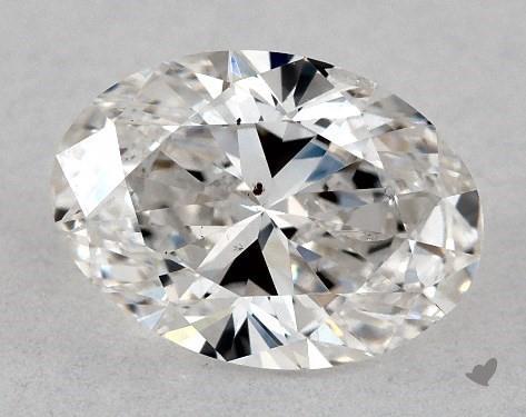 0.71 Carat F-SI2 Oval Cut Diamond