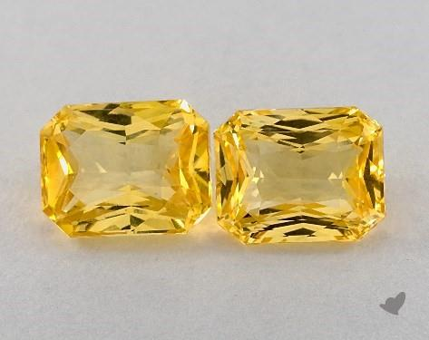 <b>10.12</b> Total Carat Weight Radiant Natural Yellow Sapphires