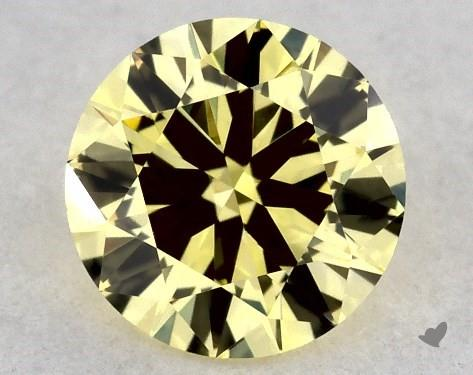 0.32 Carat FANCY  YELLOW-VS2 Round Cut Diamond