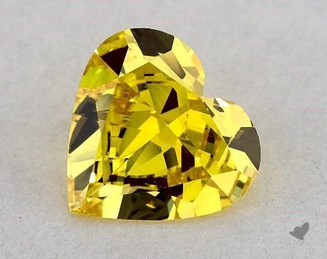 0.53 Carat  yellow-SI1 Heart Shape Diamond