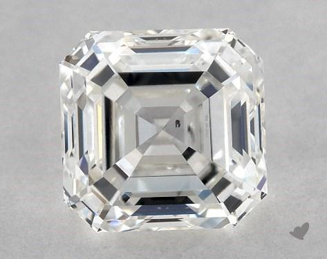 1.06 Carat H-SI1 Square Emerald Cut Diamond