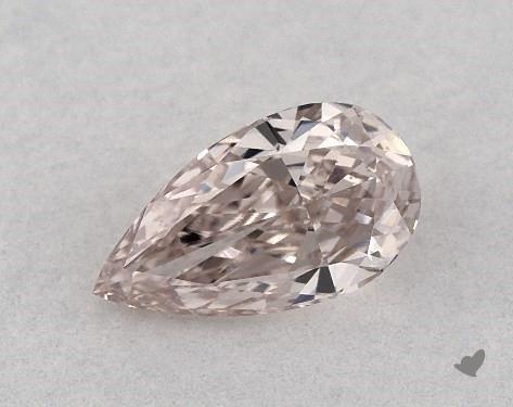0.35 Carat FANCY BROWNISH PINK-VS1 Pear Shape Diamond