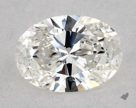 0.73 Carat H-VS2 Oval Cut Diamond