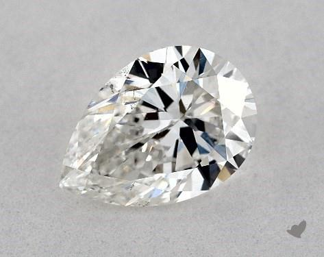 1.00 Carat F-SI1 Pear Shape Diamond