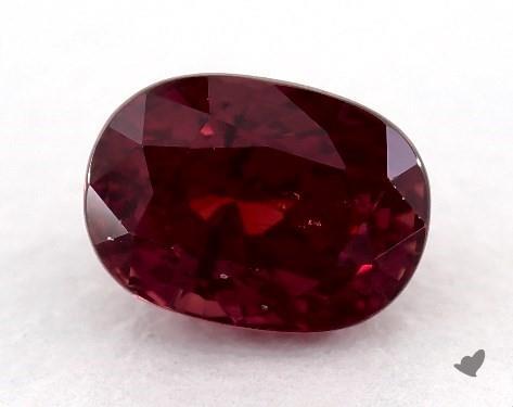 <b>0.82</b> carat Oval Natural Ruby