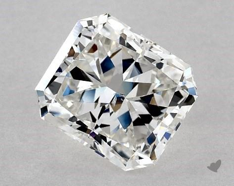 3.14 Carat F-SI1 Radiant Cut Diamond