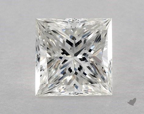 2.51 Carat H-SI1 Ideal Cut Princess Diamond