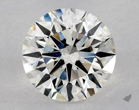 5.29 Carat H-SI1 Excellent Cut Round Diamond