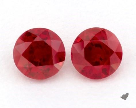 1.10 Total Carat Weight Round Natural Rubiess