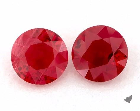 <b>1.10</b> Total Carat Weight Round Natural Rubiess