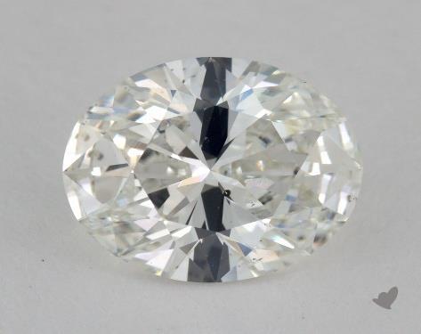 2.02 Carat H-SI1 Oval Cut Diamond