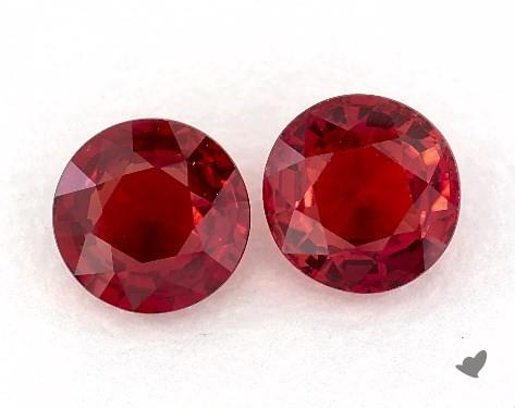 1.60 Total Carat Weight Round Natural Rubiess