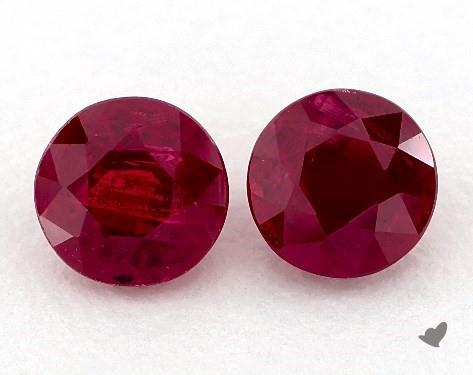 <b>1.32</b> Total Carat Weight Round Natural Rubiess
