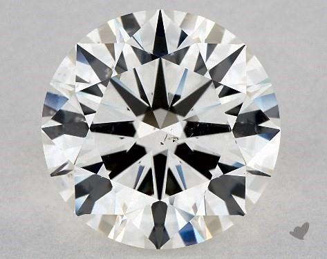 5.03 Carat H-SI1 Excellent Cut Round Diamond