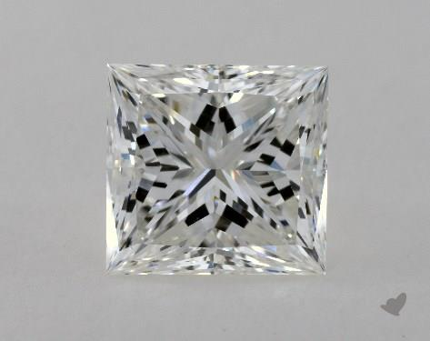 2.07 Carat H-VS1 Ideal Cut Princess Diamond
