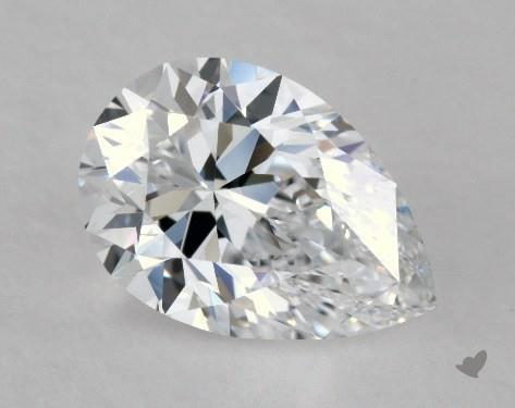 0.91 Carat D-VVS1 Pear Shape Diamond