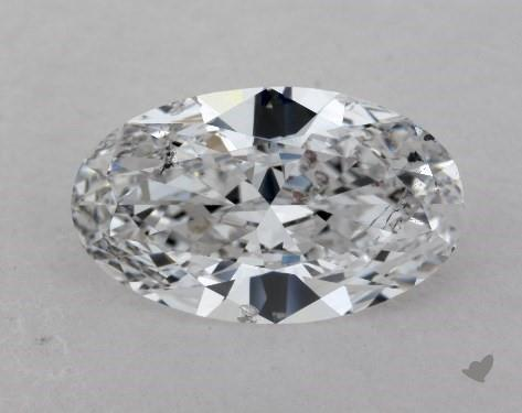 1.25 Carat D-SI2 Oval Cut Diamond