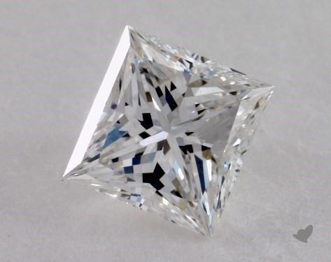 0.74 Carat F-VS2 Ideal Cut Princess Diamond