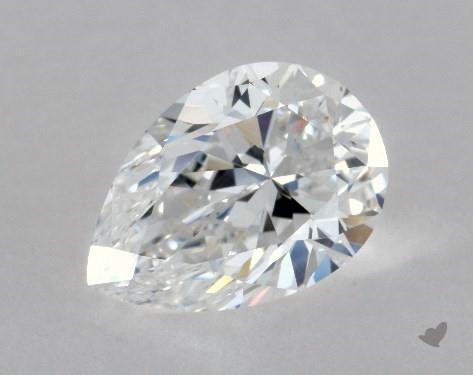 0.95 Carat D-SI1 Pear Shape Diamond